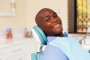 A man at his dental visit.