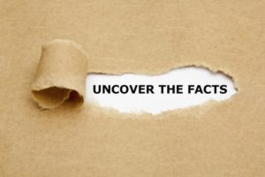 "paper that says ""uncover the facts"""