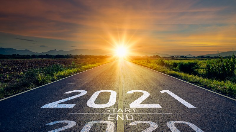 Road from 2020 to 2021